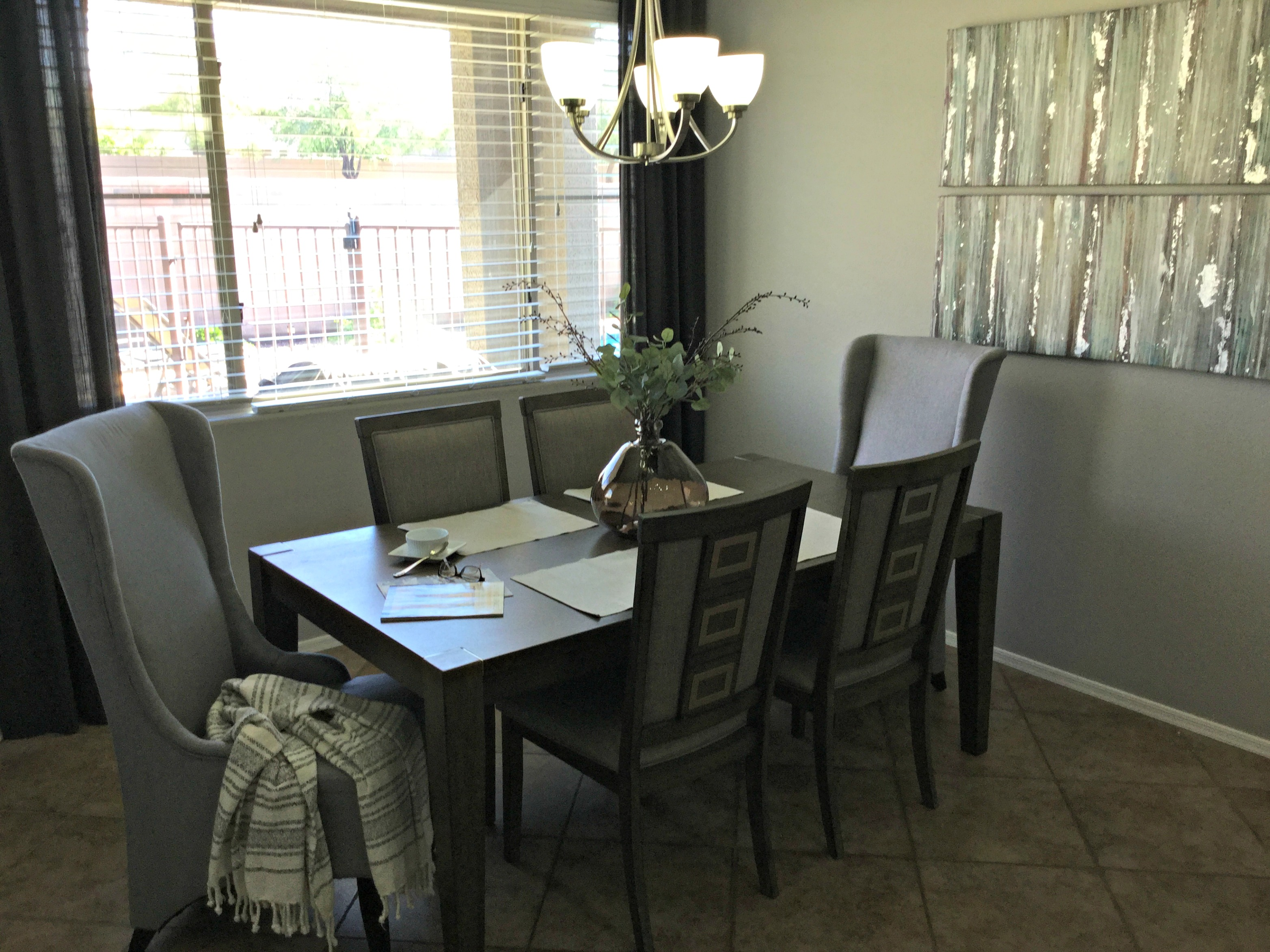 home staging redesign dining room