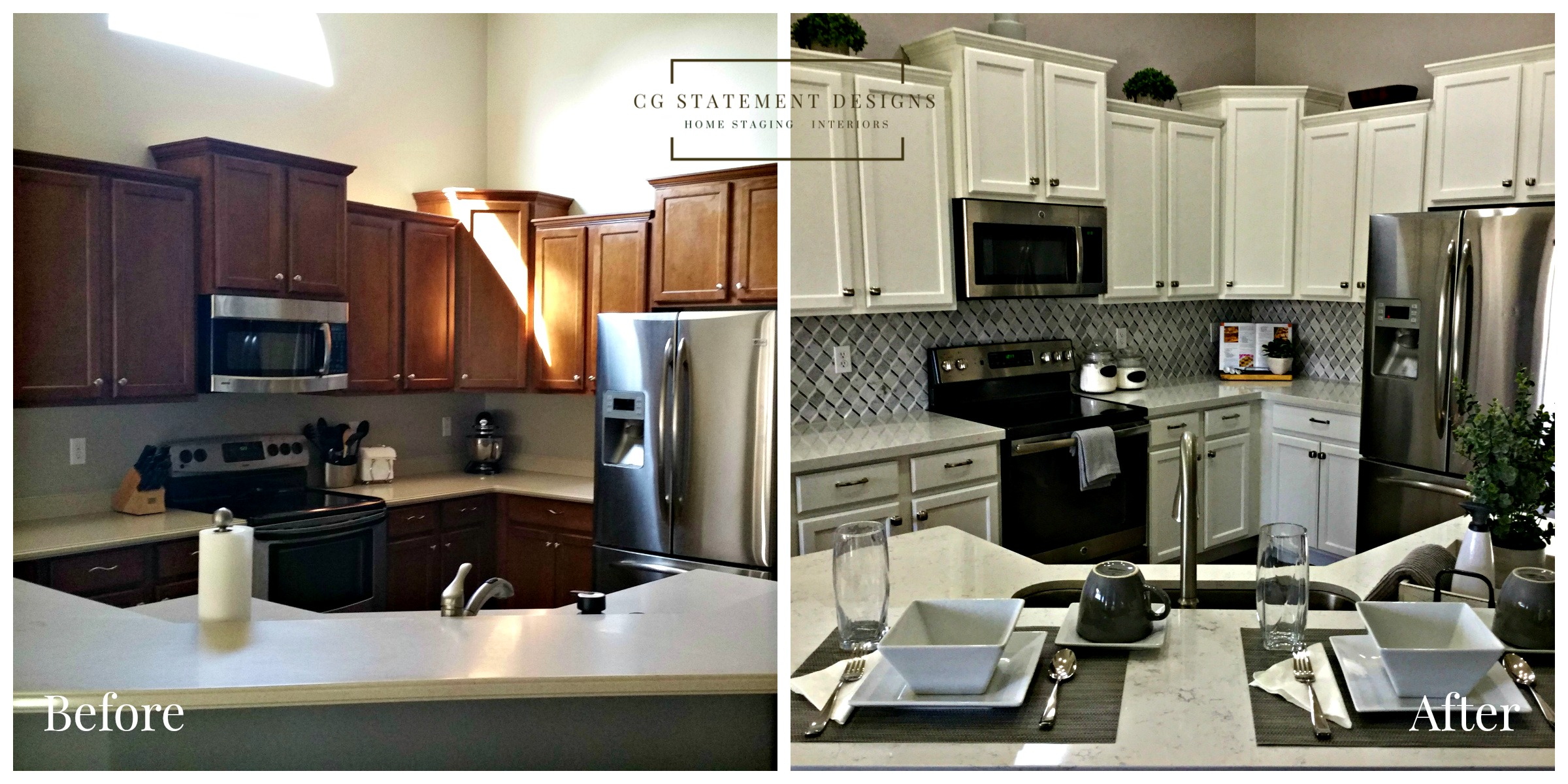 home staging redesign kitchen before after