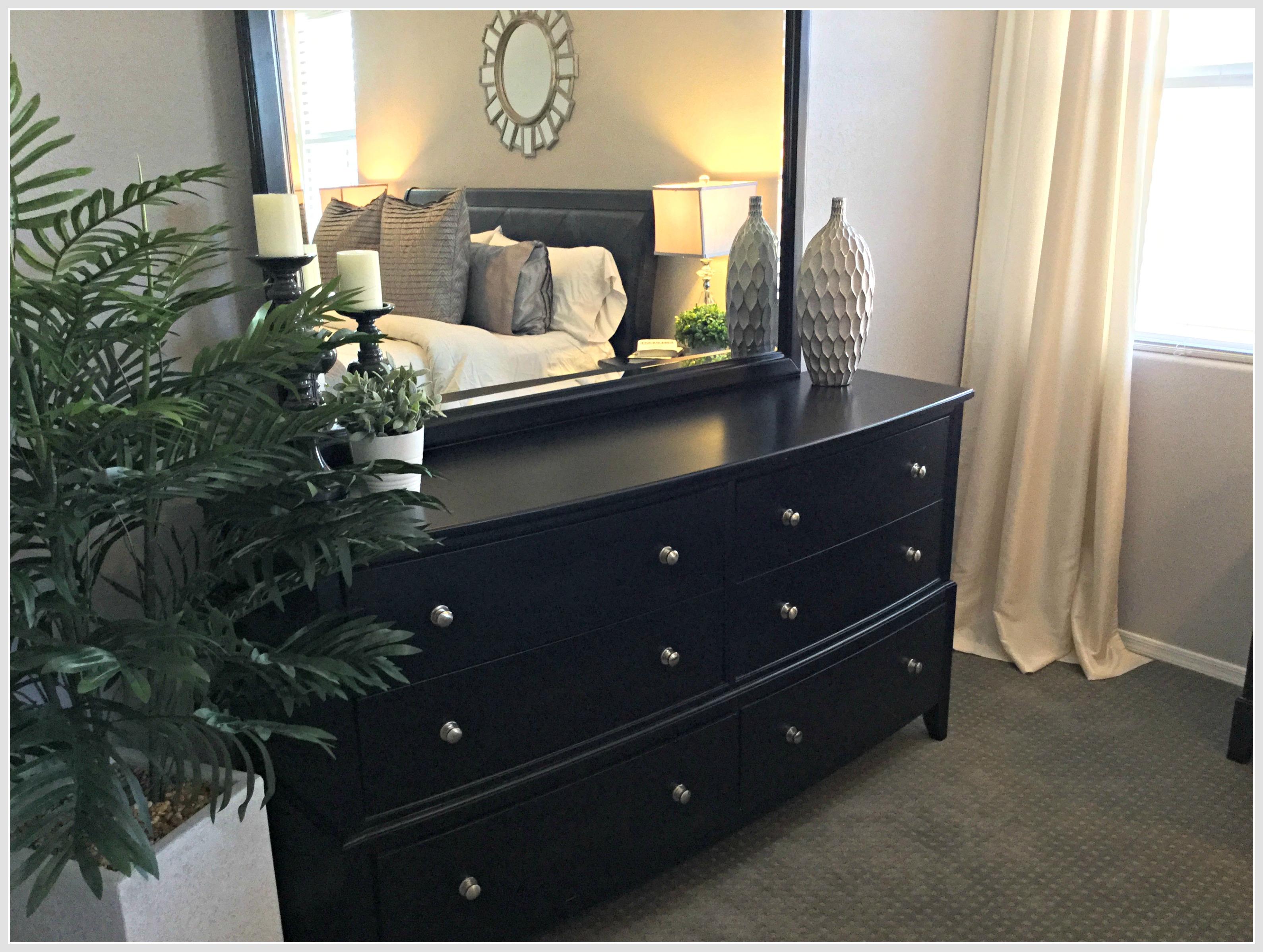 home staging master bedroom dresser
