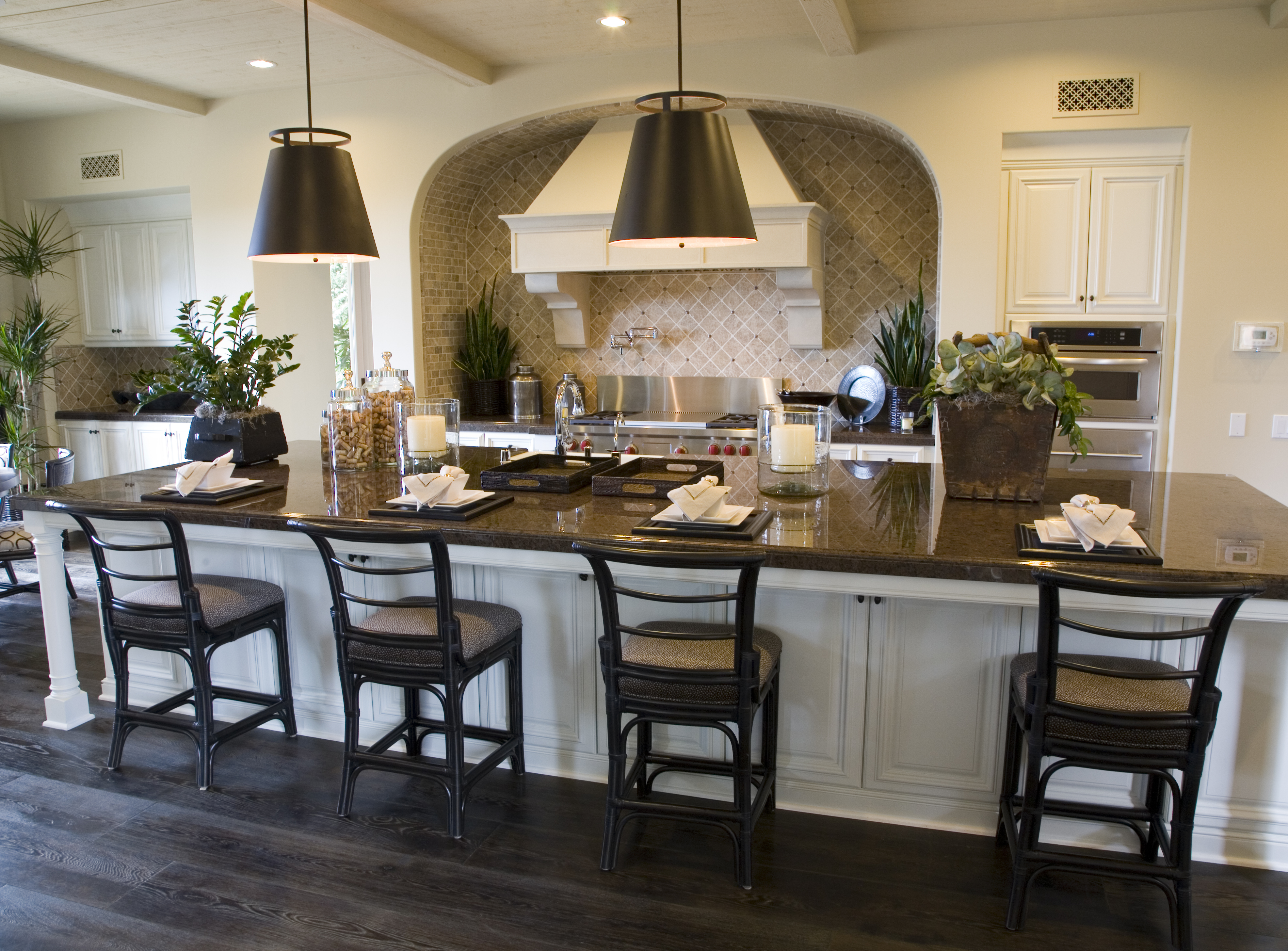home staging modern rustic kitchen