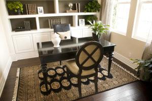 home staging den with desk