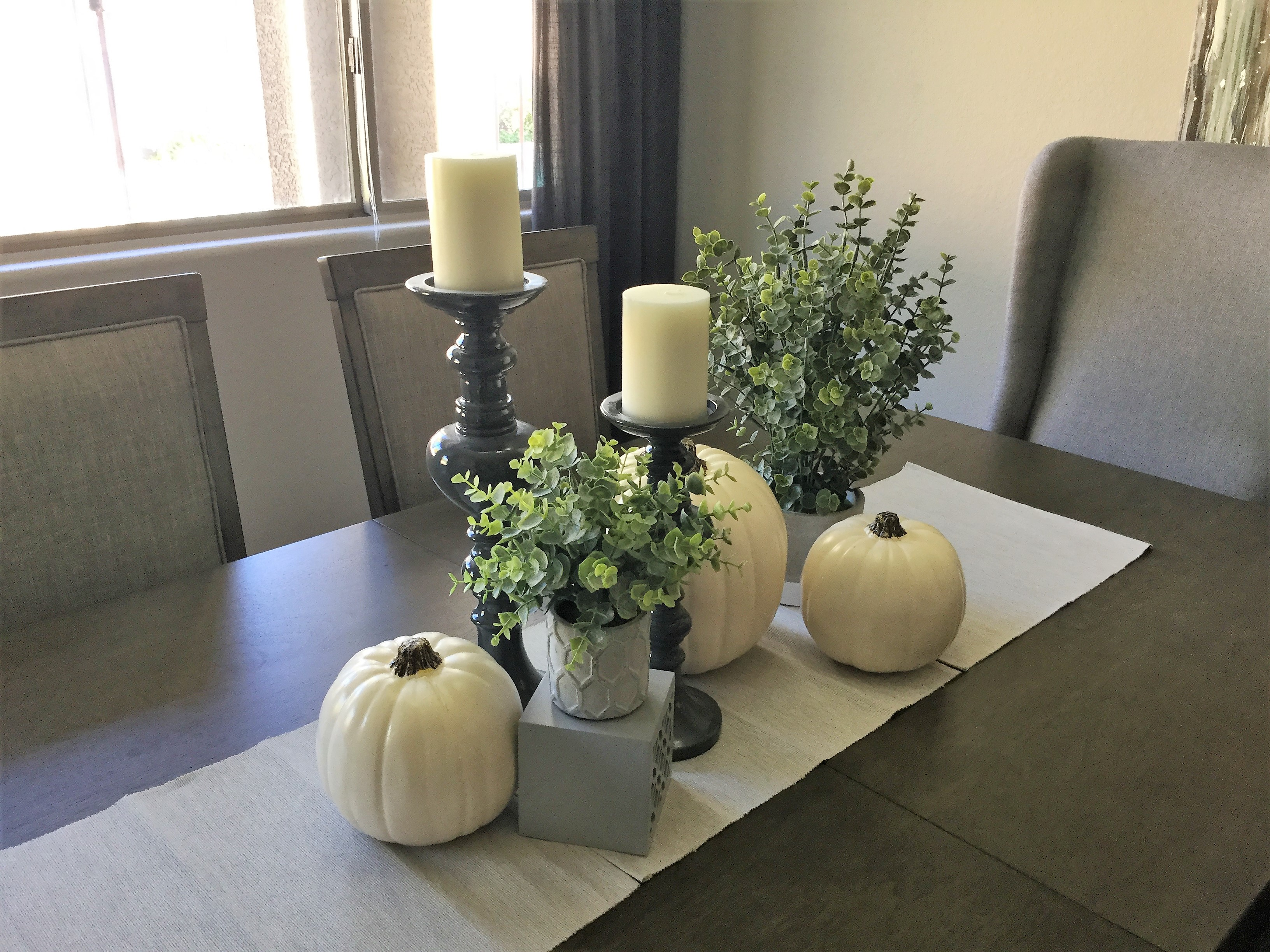Dining table vignette